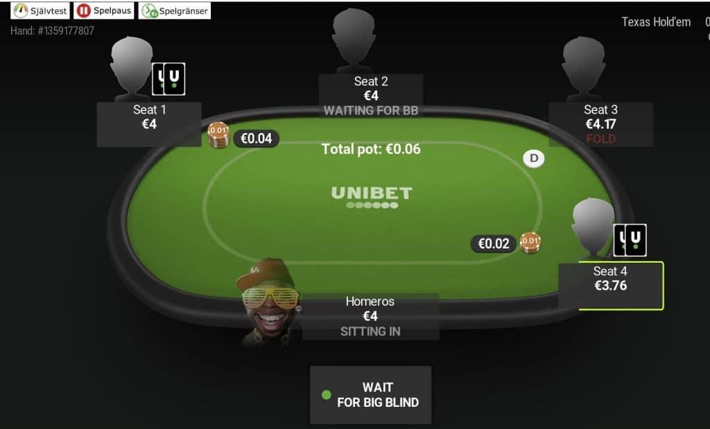 Unibet poker cashsgame