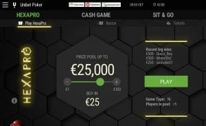 Unibet hexapro poker